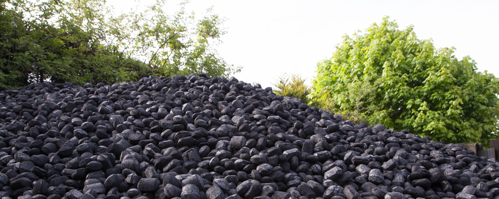 Coal being stored outside